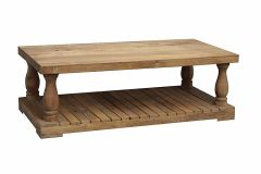Wooden Coffee Table - Porch Style Base (M0004)