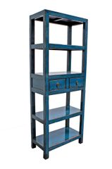 Narrow Bookshelf - Blue