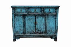 Rustic Side Cabinet - Blue