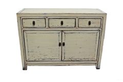 Painted Cabinet - White Cream Finish