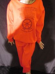 SPECTRUM UNIQUENESS ONE OF A KIND 2 pc. RED CHAKRA SWEATSUIT