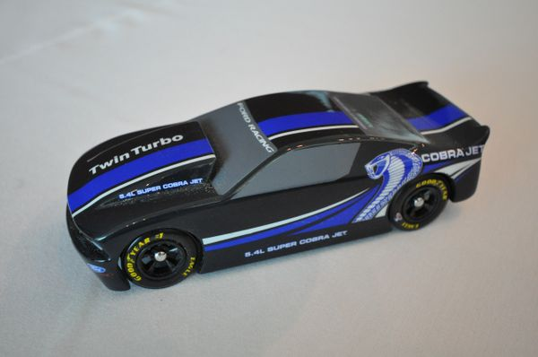 pinewood derby car  mustang style racer  car body only