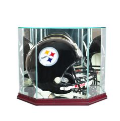 Octagon Football Helmet Glass Display Case