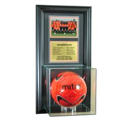 Team Recognition Award Frame with Soccerball Case and Plaque
