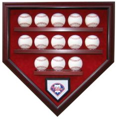 Team 13 Baseball Homeplate Shaped Display Case