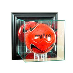 Wall Mount Soccerball Glass Display Case