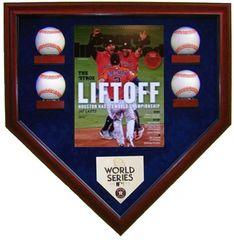 2017 World Series Champion Houston Astros 4 Baseballs Display Case