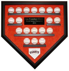 2014 World Series Champion San Francisco Giants 19 Baseball Display Case