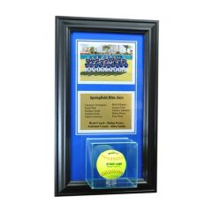 Team Recognition Award Frame with Softball Case and Plaque