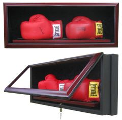 Two Boxing Gloves Case Premium Display Shadow Box