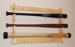 Horizontal Baseball Bat Display Rack holder