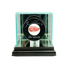 Desktop Single Hockey Puck Glass Display Case