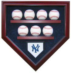 Team 7 Baseball Homeplate Shaped Display Case