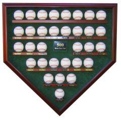 500 Home Run Club Homeplate Shaped Display Case