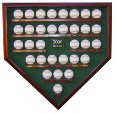 3000 Hit Club Homeplate Shaped Display Case