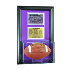 Team Recognition Award Frame with Football Case and Plaque