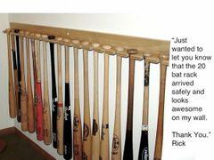 20 Baseball Bat Vertical Display Bat Rack Holder