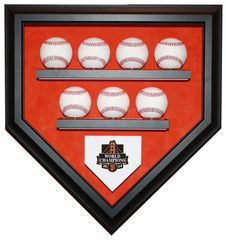 2014 World Series Champion San Francisco Giants 7 Baseballs Display Case