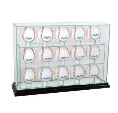 Upright 15 Baseball UV Blocking Glass Display Case