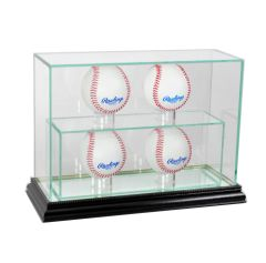 Upright 11 Baseball UV Blocking Glass Display Case