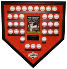 2014 World Series Champion San Francisco Giants 31 Baseballs Display Case
