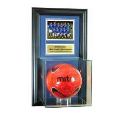 Individual Recognition Award Frame with Soccerball Case and Plaque