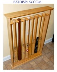 Eight Baseball Bat Floor Stand Display Rack