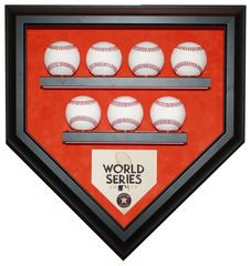 2017 World Series Champion Houston Astros 7 Baseballs Display Case