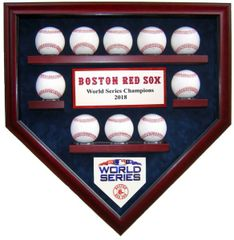 2018 World Series Champion Boston Red Sox 10 Baseball Display Case