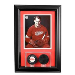 Double Hockey Puck Display Case and 8 x 10 Frame