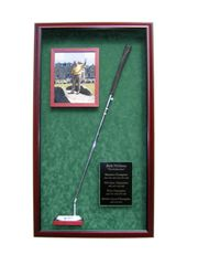 Golf Putter, 8x10 Photo, and Engraved Plate Display Case