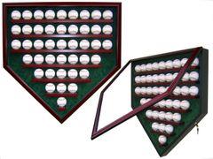 43 Baseball Homeplate Shaped Display Case