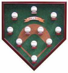 Eleven Ball Modern Field Baseball Shadow Box Display Case
