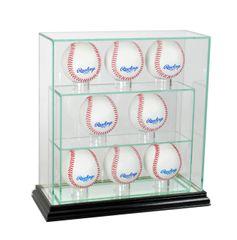 Upright 8 Baseball UV Blocking Glass Display Case