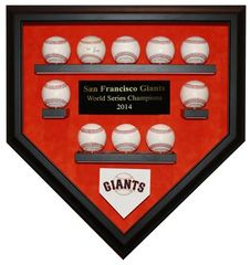 2014 World Series Champion San Francisco Giants 10 Baseball Display Case