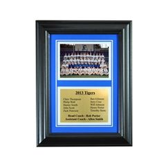 Team Recognition Award Frame with Engraved Plaque