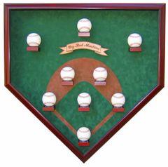 Nine Ball Vintage Field Baseball Shadow Box Display Case