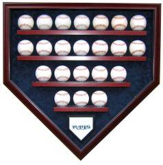 Team 22 Baseball Homeplate Shaped Display Case