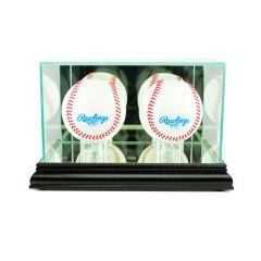 Desktop Double Baseball Glass Display Case