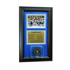 Team Recognition Award Frame with Hockey Puck Case and Plaque
