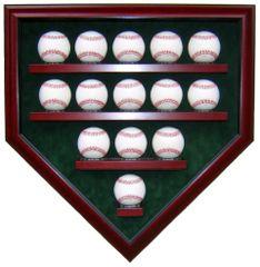 14 Baseball Homeplate Shaped Display Case