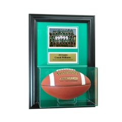 Individual Recognition Award Frame with Football Display Case