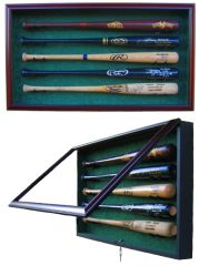 Premium 5 Baseball Bat UV Protective Shadow Box Display Case