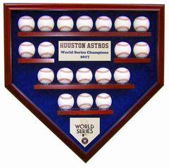 2017 World Series Champion Houston Astros 19 Baseball Display Case