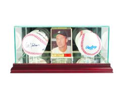 Card and Double Baseball Glass Display Case