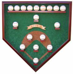 Eighteen Ball Vintage Field Baseball Shadow Box Display Case