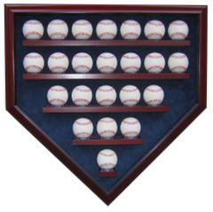 23 Baseball Homeplate Shaped Display Case