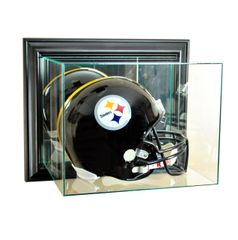 Wall Mount Football Helmet Glass Display Case