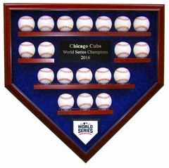 2016 World Series Champion Chicago Cubs 19 Baseballs Display Case