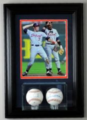 Double Baseball display case and 8 x 10 Frame